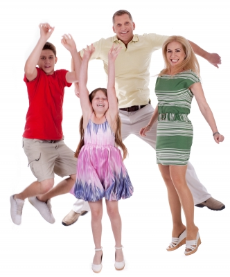 family jump for joy