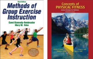 group fitness instructor certification textbooks combo pack