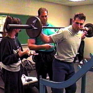 Certified Personal Trainer course practical demonstration