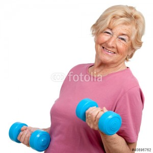 wits oa woman w dumbbells