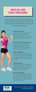 Traits of a Fitness Professional