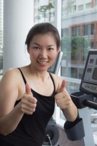 Asian fitness girl