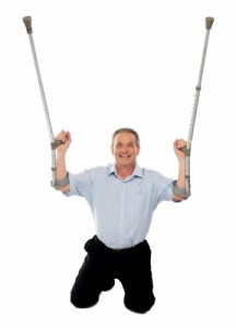OA with crutches
