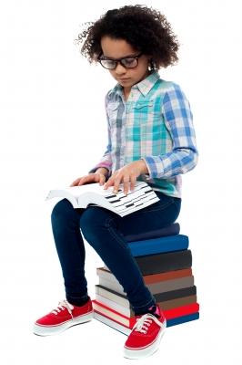 Child Reading for I.Q.