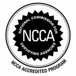 NCCA Accreditation seal for Certified Personal Trainer course
