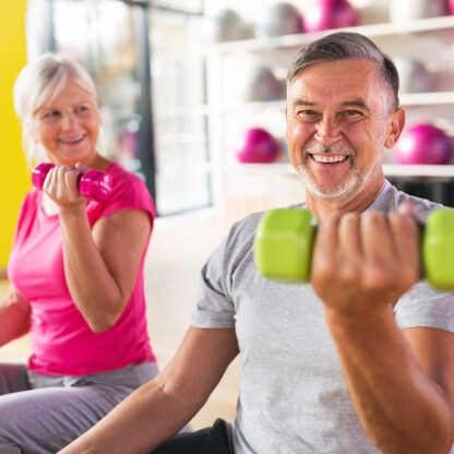 Seniors Exercising Safely
