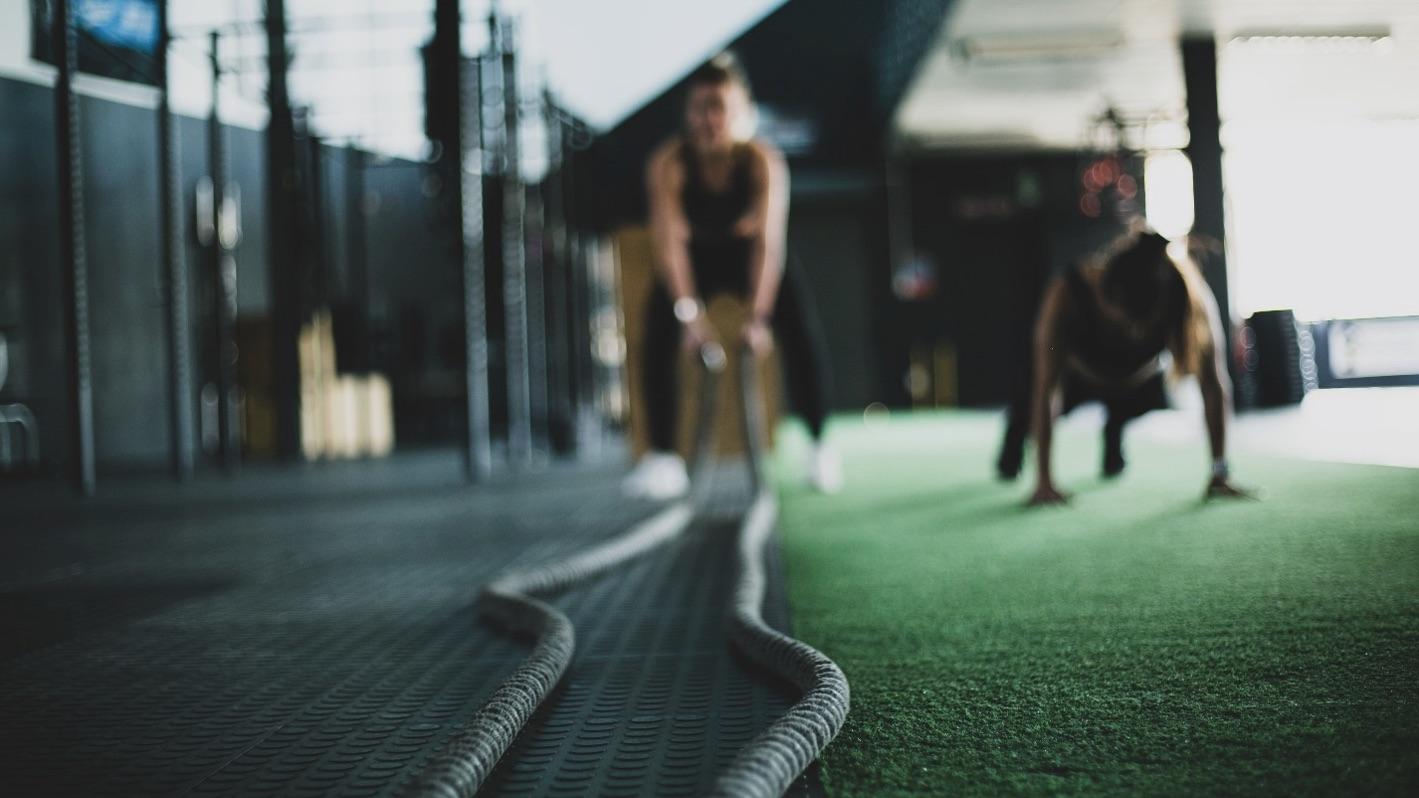 gym workout in progress